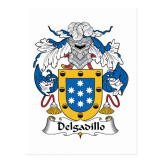 Escudo de la familia de Delgadillo Tarjeta Postal