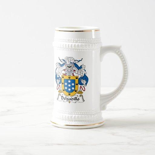 Escudo de la familia de Delgadillo Tazas De Café