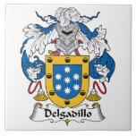 Escudo de la familia de Delgadillo Teja Cerámica