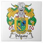 Escudo de la familia de Delgado Tejas Cerámicas