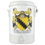 Escudo de la familia de Della Rocca Enfriador De Bebida Igloo