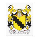 Escudo de la familia de Della Rocca Impresión En Lienzo Estirada