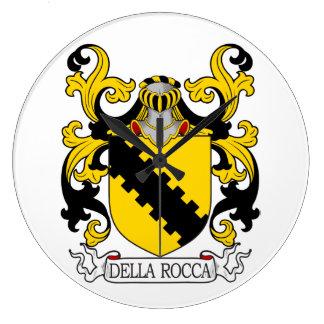 Escudo de la familia de Della Rocca Reloj De Pared