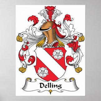 Escudo de la familia de Delling Posters