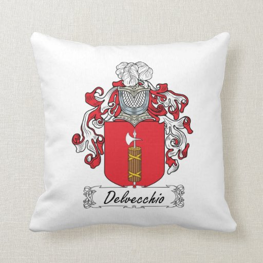 Escudo de la familia de Delvecchio Cojin
