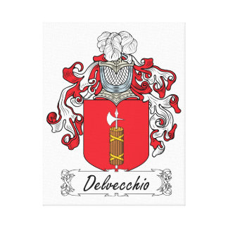 Escudo de la familia de Delvecchio Lienzo Envuelto Para Galerías