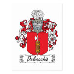 Escudo de la familia de Delvecchio Postal