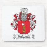 Escudo de la familia de Delvecchio Alfombrillas De Ratones