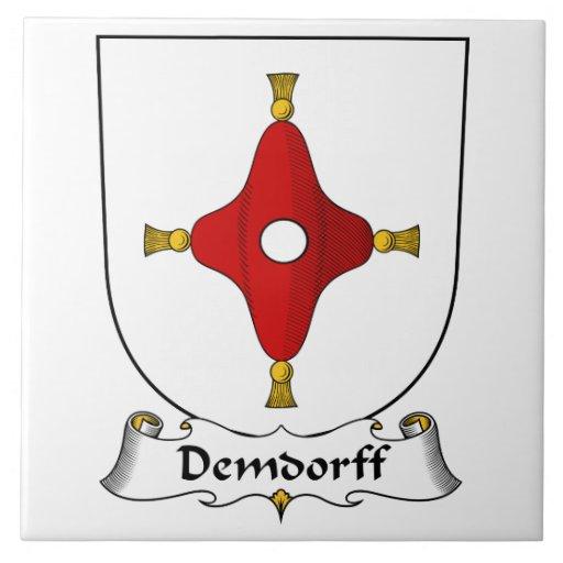 Escudo de la familia de Demdorff Azulejo Cuadrado Grande
