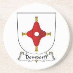 Escudo de la familia de Demdorff Posavaso Para Bebida