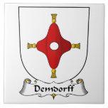 Escudo de la familia de Demdorff Tejas Cerámicas