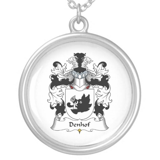 Escudo de la familia de Denhof Colgante Redondo