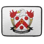 Escudo de la familia de Denison Fundas Para Macbooks