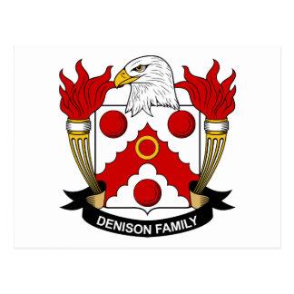 Escudo de la familia de Denison Tarjeta Postal