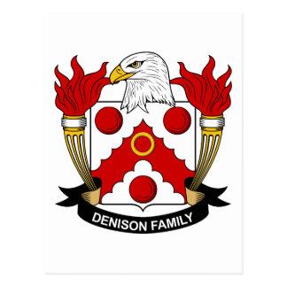 Escudo de la familia de Denison Postales