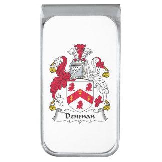 Escudo de la familia de Denman Clip Para Billetes Plateado