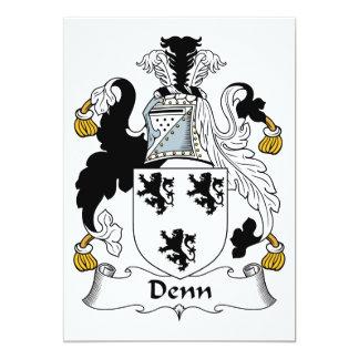 """Escudo de la familia de Denn Invitación 5"""" X 7"""""""