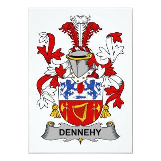 """Escudo de la familia de Dennehy Invitación 5"""" X 7"""""""