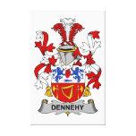 Escudo de la familia de Dennehy Impresion De Lienzo