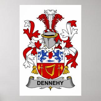 Escudo de la familia de Dennehy Poster