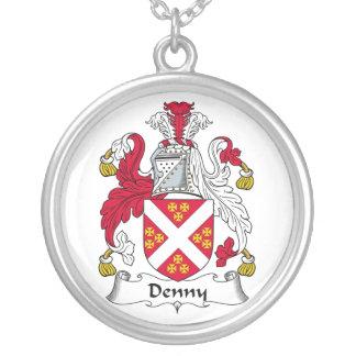 Escudo de la familia de Denny Colgante Redondo