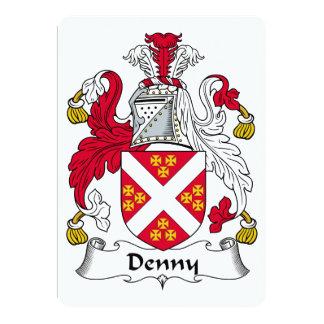 """Escudo de la familia de Denny Invitación 5"""" X 7"""""""