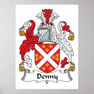 Escudo de la familia de Denny Póster