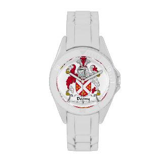 Escudo de la familia de Denny Reloj De Mano