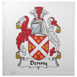 Escudo de la familia de Denny Servilleta Imprimida