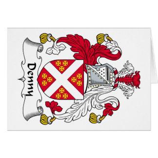 Escudo de la familia de Denny Tarjeta De Felicitación