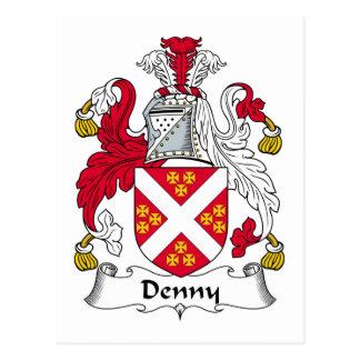 Escudo de la familia de Denny Tarjetas Postales