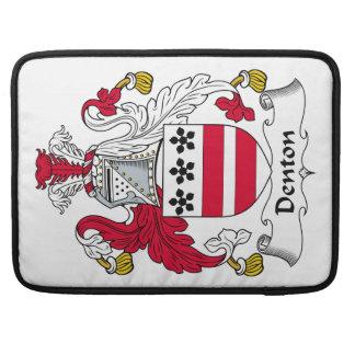Escudo de la familia de Denton Funda Macbook Pro