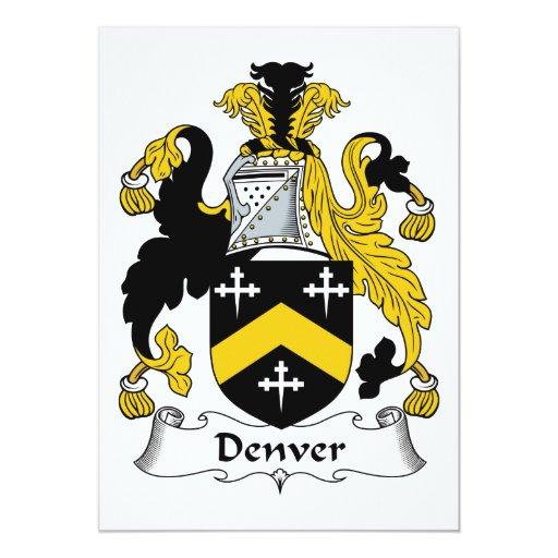 """Escudo de la familia de Denver Invitación 5"""" X 7"""""""