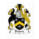 Escudo de la familia de Denver Tarjetas Postales