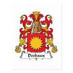 Escudo de la familia de Desbaux Postal