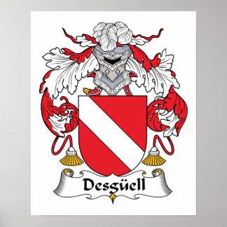 Escudo de la familia de Desguell Posters