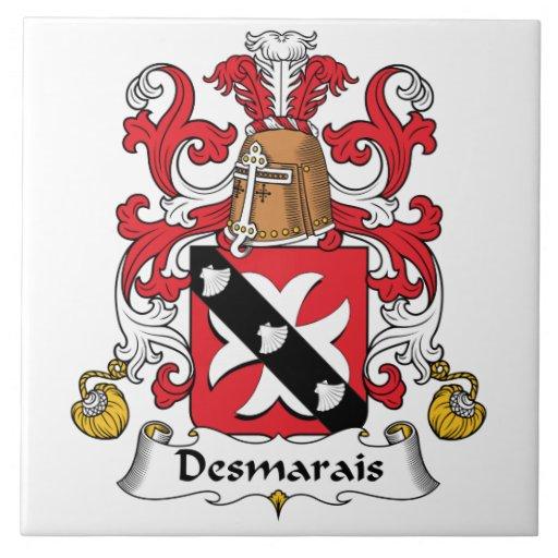 Escudo de la familia de Desmarais Azulejos Cerámicos