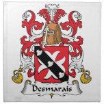 Escudo de la familia de Desmarais Servilleta Imprimida