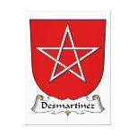 Escudo de la familia de Desmartinez Lienzo Envuelto Para Galerías