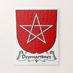 Escudo de la familia de Desmartinez Puzzle