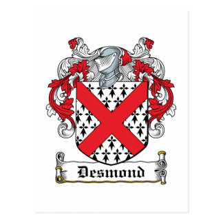Escudo de la familia de Desmond Postales