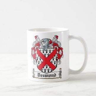 Escudo de la familia de Desmond Taza Básica Blanca