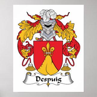 Escudo de la familia de Despuig Posters