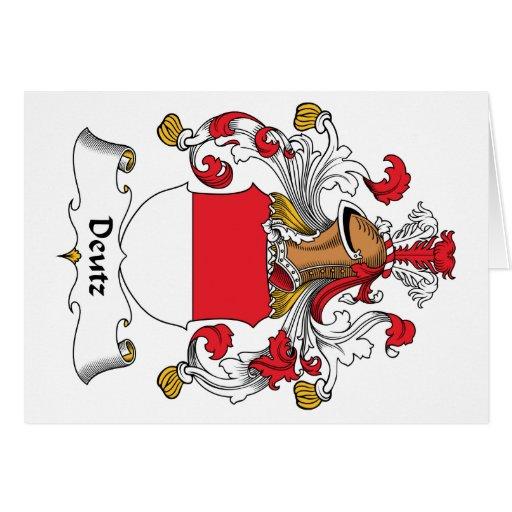 Escudo de la familia de Deutz Tarjeta De Felicitación
