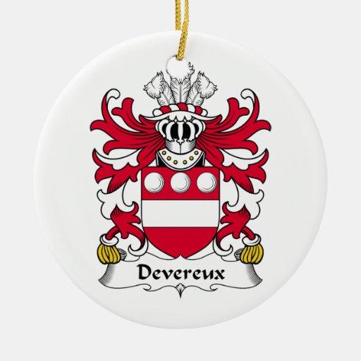 Escudo de la familia de Devereux Adorno De Navidad