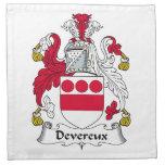 Escudo de la familia de Devereux Servilleta
