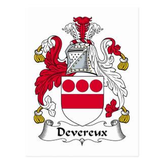 Escudo de la familia de Devereux Tarjetas Postales