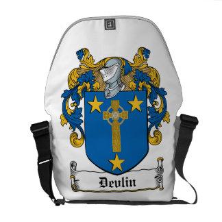 Escudo de la familia de Devlin Bolsa De Mensajeria
