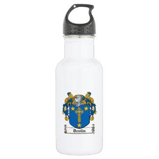 Escudo de la familia de Devlin Botella De Agua De Acero Inoxidable