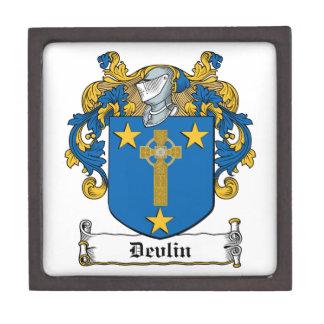 Escudo de la familia de Devlin Cajas De Joyas De Calidad
